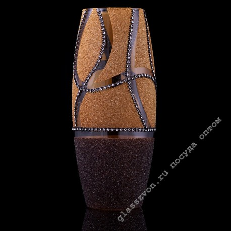 Шелли 43966 ваза-стекло шамот/стразы