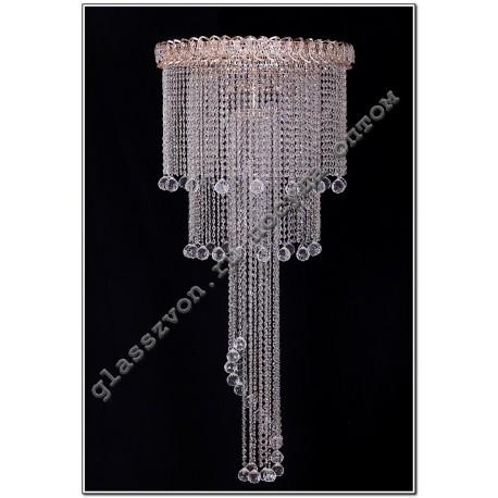 "The lamp ""Crystal Waterfall"" dia. 700 mm LONG"