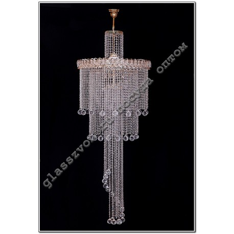 "Lamp ""Crystal Waterfall"" diam. 700 mm LONG with suspension"