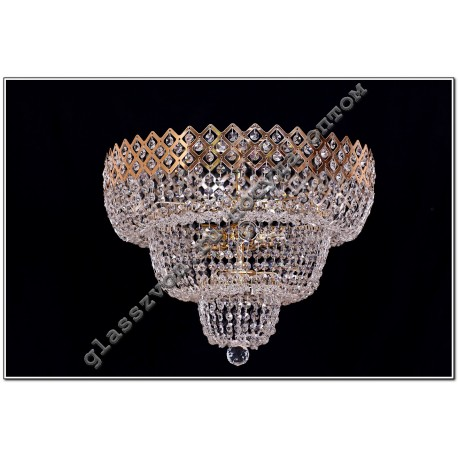 Lamp Crystal Falls CROWN №2 with a mirror