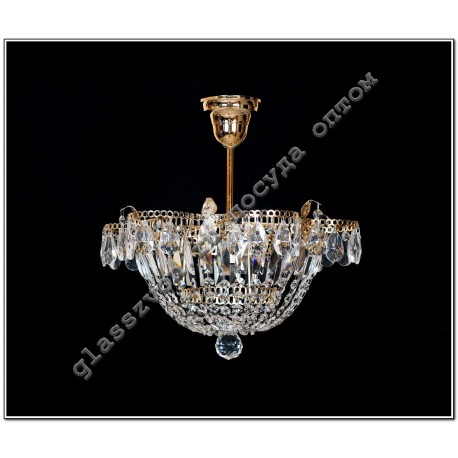 "Lamp ""Crystal Chamomile"" 1 lamp Dome suspension"