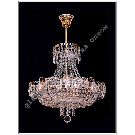 """Lamp """"Crystal Chamomile"""" 4 lamps with suspension"""