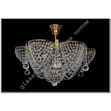 """Lamp """"Crystal Chamomile"""" 3 lamps ALENKA with suspension"""