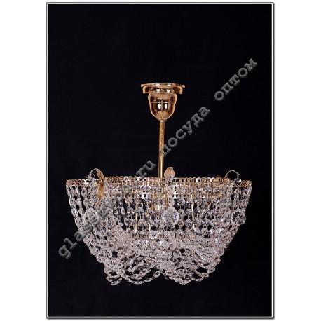 """Lamp """"Crystal Chamomile"""" 1 lamp suspension VASILISA"""