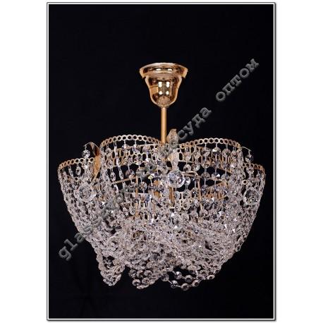 "Lamp ""Crystal Chamomile"" 3 lamps with VASILISA suspension"