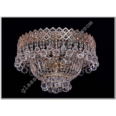 Lamp Crystal Waterfall CROWN No. 1 with a mirror