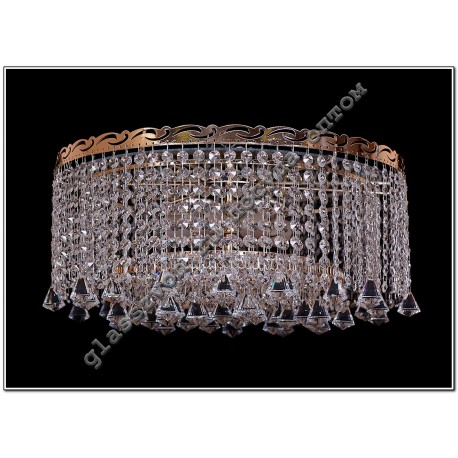 """Lamp """"Crystal Droplets"""" 5 lamps number 2 with mirrors. cone / ball 30"""