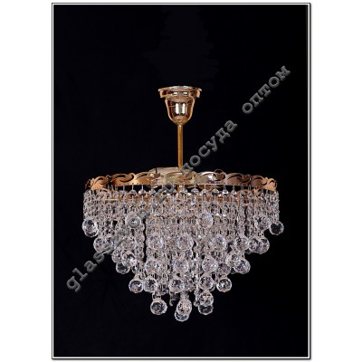 Crystal drop lamp 3 lights 30 cone or 30 ball