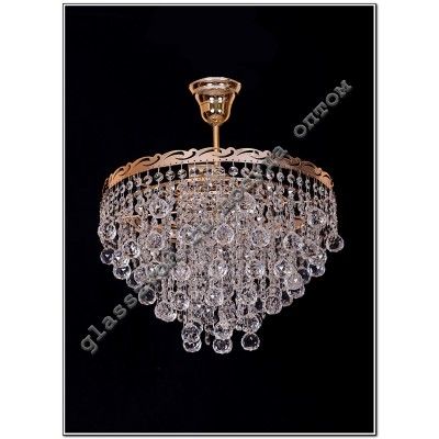 Crystal drop lamp 3 lamps cone 40 or ball 40