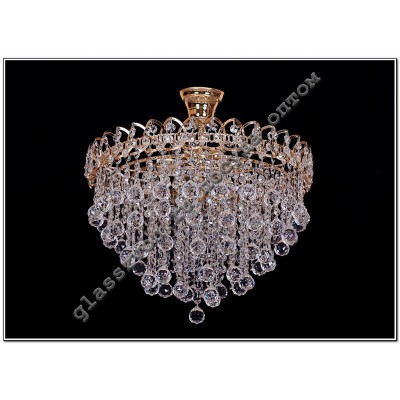 Crystal drop lamp 5 lamps petal cone 30 or ball 30