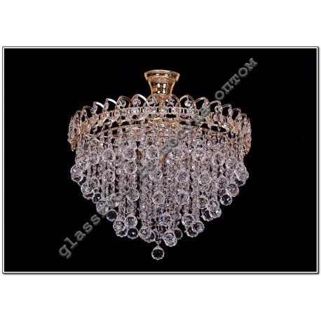 Crystal drop lamp 5 lamps petal cone 30 or ball 30