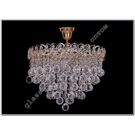 Crystal Chandelier 5 lamps petal cone 40 or ball 40