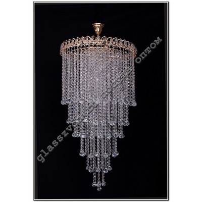 Crystal Chandelier 6 lamps petal LONG