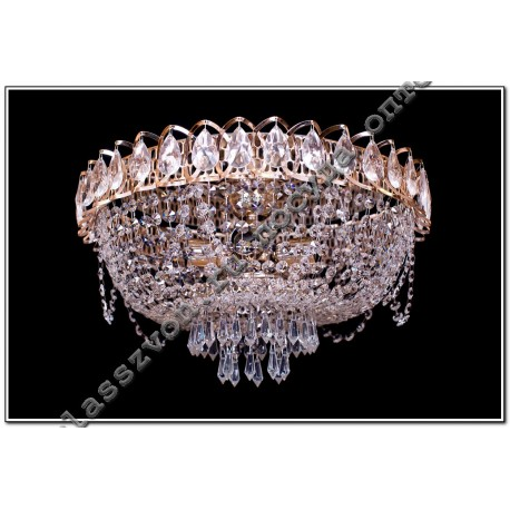 Crystal Katerina lamp 5 lamps with mirror AZUR
