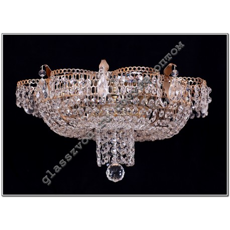 """Lamp """"Crystal Chamomile"""" 4 lamps with a mirror"""
