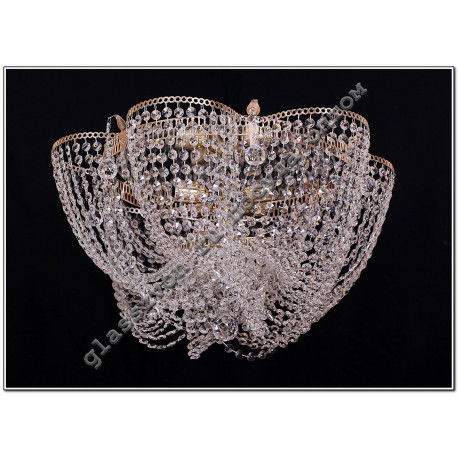 "Lamp ""Crystal Chamomile"" 3 lamps with VASILISSA mirror"