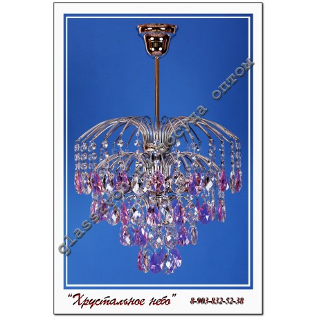 "Lamp ""Crystal Spray"" 3 lamps stone colored"