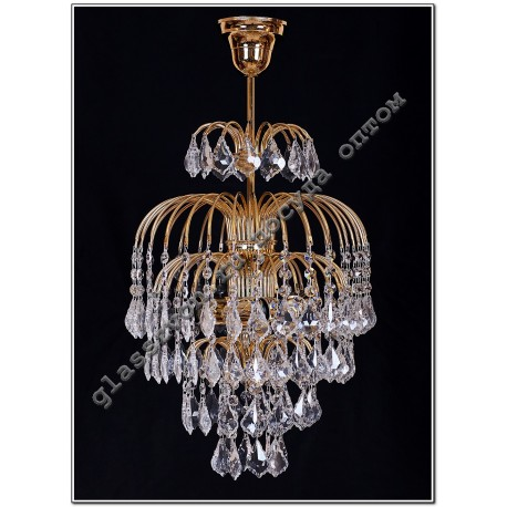 Crystal Spray Lamp with 3-tube suspension Dubic