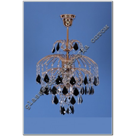 Crystal Spray Fixture with suspension 3 lamps Color Cube