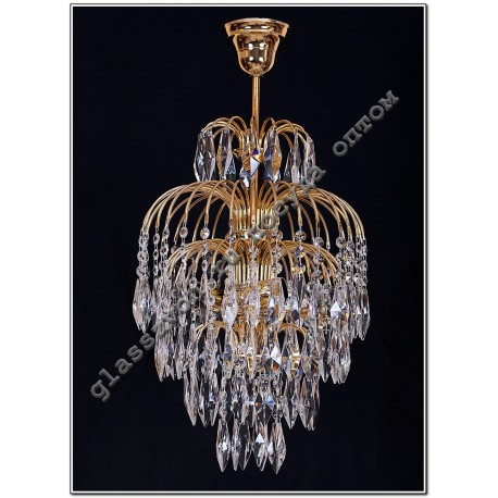 Crystal Spray Lamp with 3 lamp suspension Perot