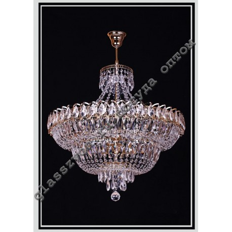 """The lamp """"Crystal Waterfall"""" dia. 450 mm with suspension"""