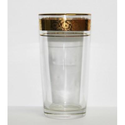 1256/12з Набор 6-ти стаканов д/коктейля 230 мл., Цветочный бордюр золотой