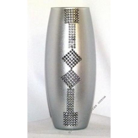 Ваза 43966 Ксения серебро