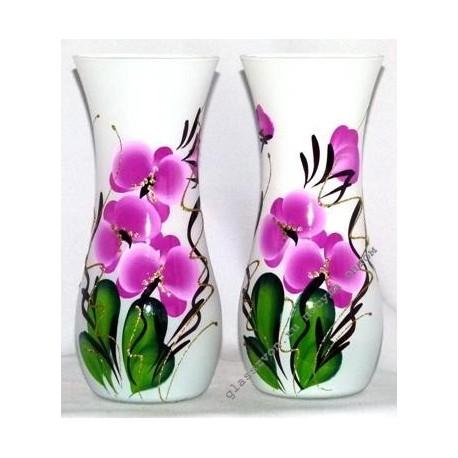 Ваза 43737 цветная художественная. Орхидея.