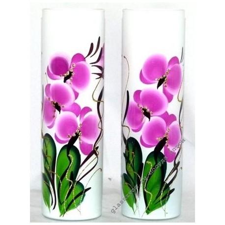 Ваза 43767 цветная художественная. Орхидея.
