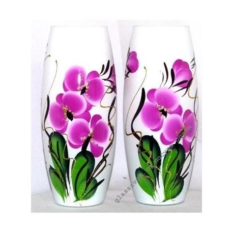 Ваза 43966 цветная художественная. Орхидея.