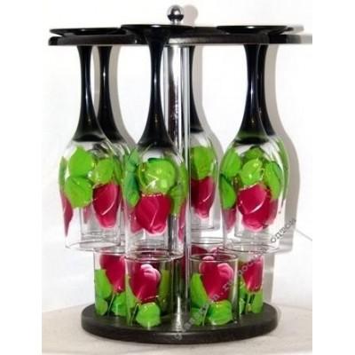 Бар прозрачный цветной Розы